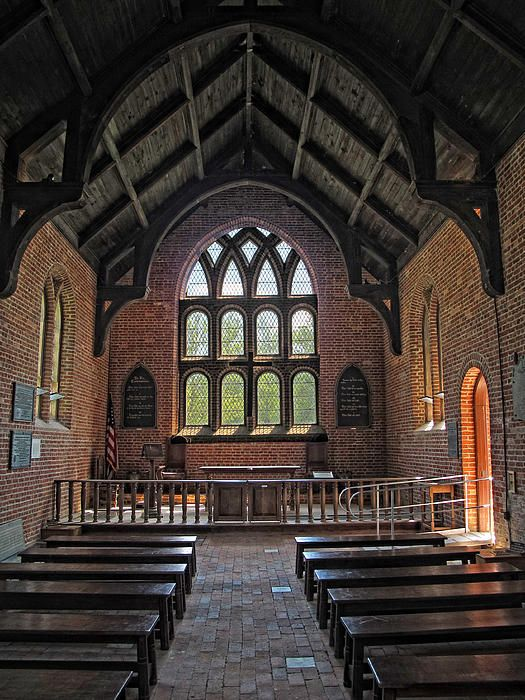 This is the Anglican Church in Jamestown Settlement, VA.  The church has been rebuilt a few times, but the original tower still stands...built nearly 400 years ago.  Fascinating place with an archiarium.  Digs are still going on.