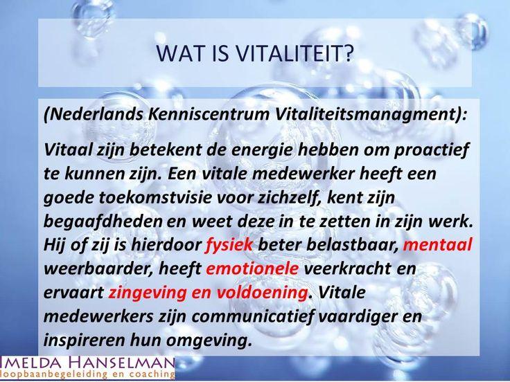 Wat is VITALITEIT?