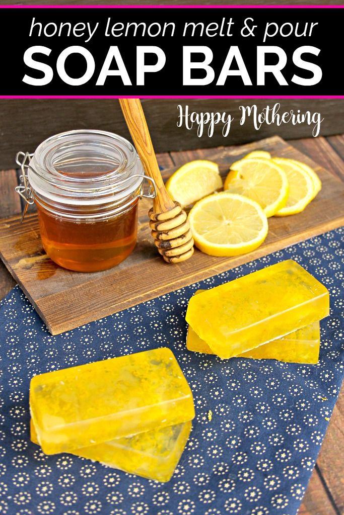 Homemade Honey Lemon Melt & Pour Soap Bars Homemade soap