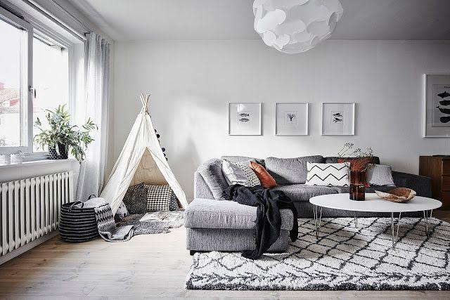 Blog wnętrzarski - design, nowoczesne projekty wnętrz: Mieszkanie dwupokojowe i dziecko