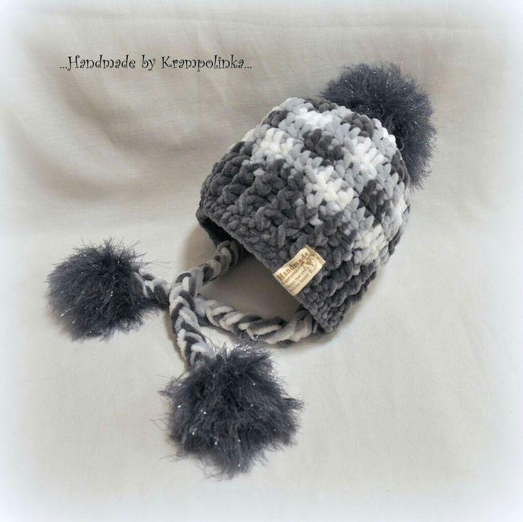 Plaid beannie coolishanka baby hat with pompom free pattern