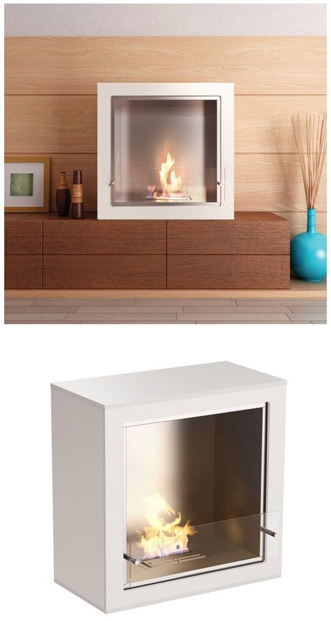 Cube Modern Portable Fireplace. Fueled by Bioethanol