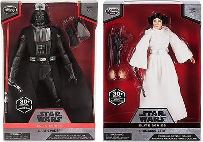 "Star Wars PRINCESS LEIA & VADER Elite PREMIUM Action Figure Doll DISNEY 10"" in Collectibles, Science Fiction & Horror, Star Wars 