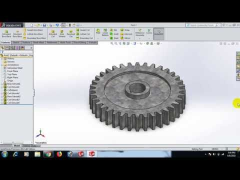 How To Make Spur Gear By Solidworks Youtube Solidworks Electronic Products