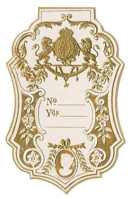 Printable vintage French perfume tag