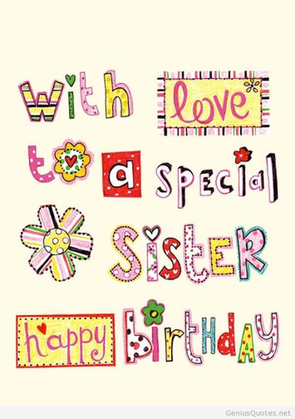 Happy Birthday My Dear Sister - Messages, Pictures, Wishes, Bday Cake, Images, Poems