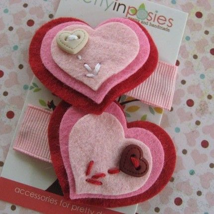 Valentine Idea: Day 8 – Hair Accessories + Giveaway! « Paperseed