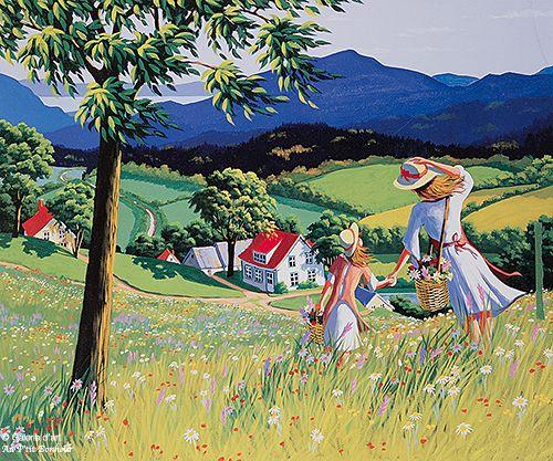 Rémi Clark, 'Fleurs des champs', print/reproduction | Galerie d'art - Au P'tit Bonheur - Art Gallery