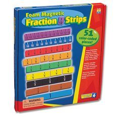 Foam Magnetic Fraction Bars. Fraction bars make learning equivalent fractions a snap! The nine fraction bars are color-coded for easy identification and break into perfect fractions so that students s