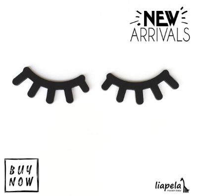 Check out the all-new Eyelash Wall Decor available at Liapela.com (US)$24.99 + Free shipping. They are a must have for any modern nursery. They create the perfect peaceful environment that all baby nurseries need. The Sleepy Eyes wall decor will become the favorite piece of art in your kid's room. Like on Instagram @LiapelaModernBaby