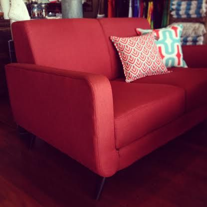Red Fonz lounge - add a little retro feel to your home.
