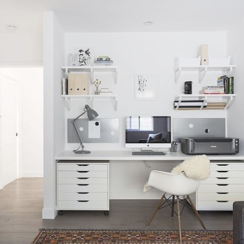 Transforming space and function...It's what we love to do! A favorite shot from a recently completed favorite #4pt #dreamproject. This incredible #homeoffice used to be a closet!  #ilovemyjob #lLAinteriordesigner #contractor #asseenin @betterhomesandgardens #beforeandafter  #weloveIKEA #projecthnc2015 #designhounds #workspacegoals