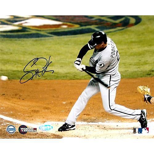 Steiner Sports MLB Scott Podsednik Signed Photo 2005 World Series Game 4 Triple - Chicago White Sox