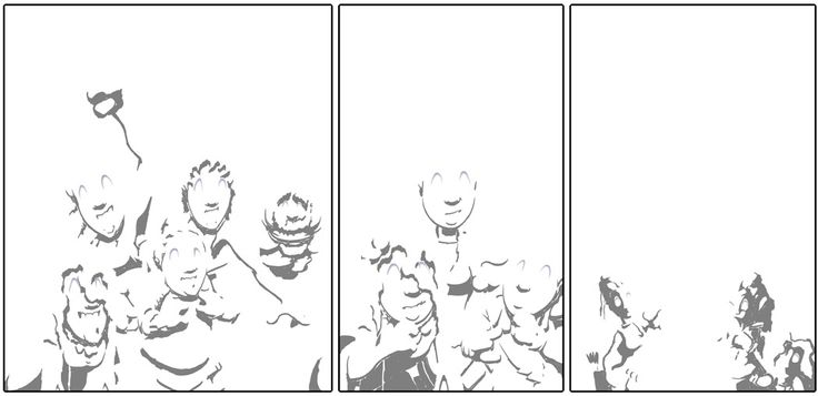 My comic looks weird when I remove everything except the shadows.