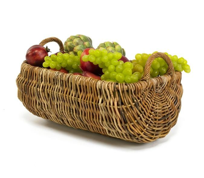 Cottage Rattan Kitchen Basket