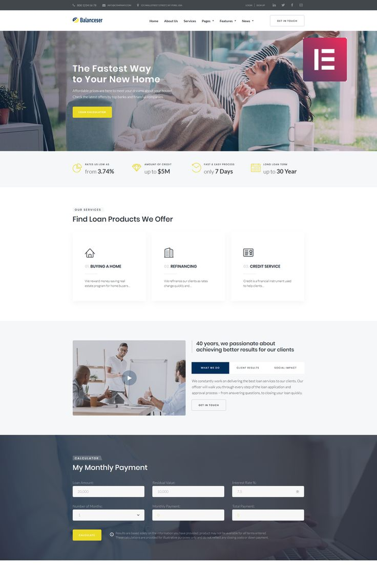 Balanceser financial Services Elementor wordpress