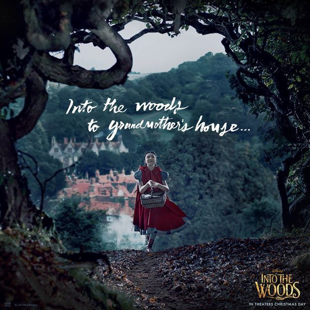 Disney has shared a new social media poster from the highly anticipated big screen adaptation of INTO THE WOODS featuring Lilla Crawford as Little Red Riding Hood.