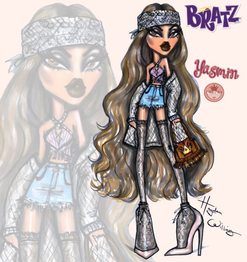 "Bratz Yasmin AKA ""Pretty Princess"" is all about vintage glam & retro-cool boho style! Earth tone colours & exotic textures "