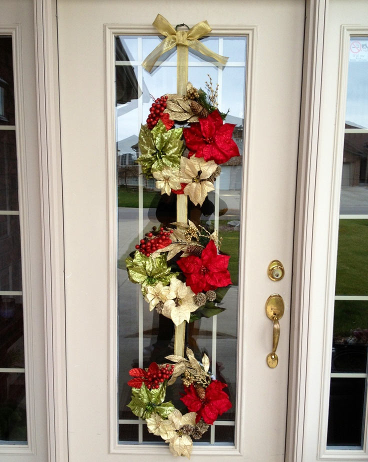 DIY Triple Christmas Wreath!! (Great for a glass front ...