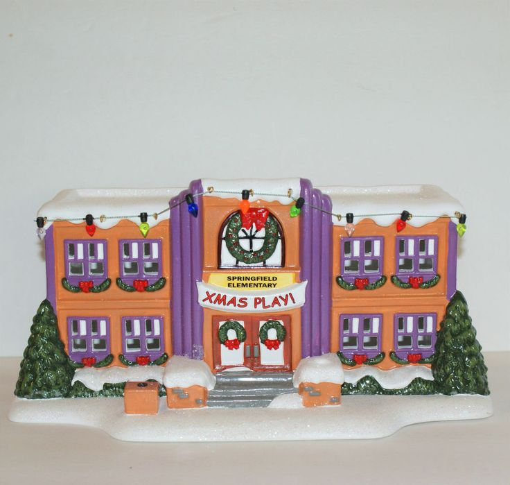 Simpsons Springfield Elementary School Department 56 Christmas Village  #Department56