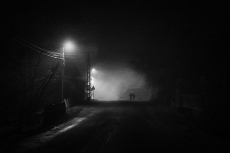 A Noir Christmas. Harghita, Romania, 2017, December 25th. Signed, original, limited edition (30 pieces) with certificate of authenticity. Contact me for more sizes, options or custom orders! #photography #fineart #print #christmas #noir #filmnoir #mood #night #streetphotography #monochrome #blackandwhite
