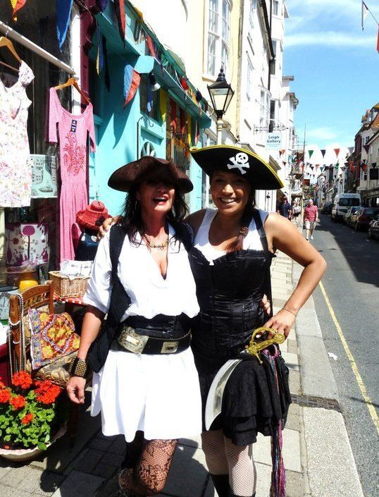 Mass group fancy dress Pirate day hastings in the old town #pirate #day #hastings #oldtown
