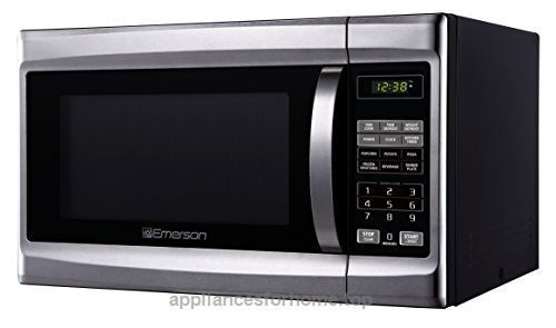 Emerson Mw 1338sb 1 3 Cu Ft 1000 Watt Touch Control Stainless Steel Front Black Cabinent Mi Countertop Microwave Microwave Oven Stainless Steel Microwave