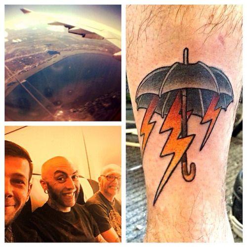 TATTOO #tatouage #parapluie #éclaire # tradi # vus d avion #Québec# Canada # convention de Chicoutimi #
