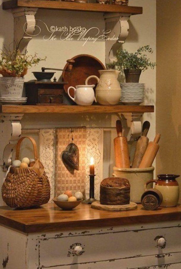 K che Ideen Einrichtung mit Holz rustikal Deko # ...