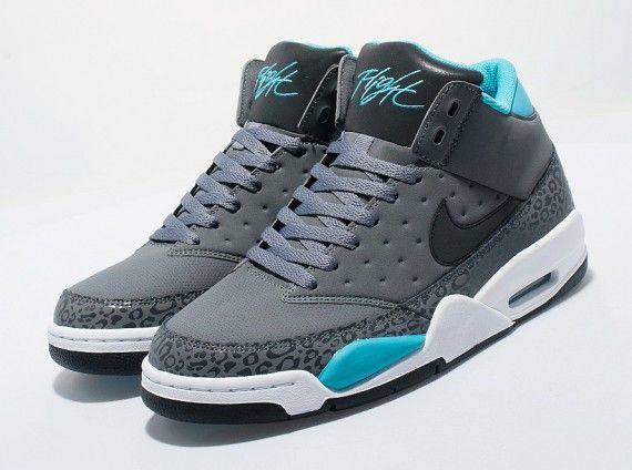 Not much of a sneaker person but im digging these   Nike Air Flight Classic – Cool Grey – Teal – White