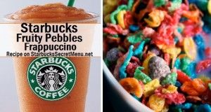 fruity pebbles frappuccino OMG. Secret Menu for Starbucks...yes please.