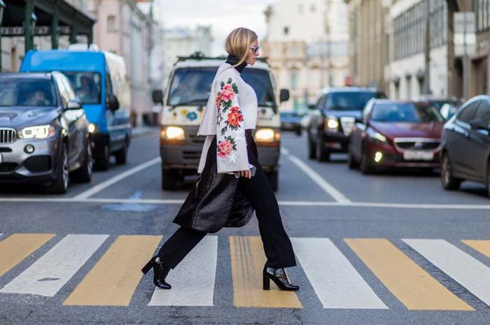 The Very Best Street Style From Mercedes-Benz Fashion Week Russia via @WhoWhatWear