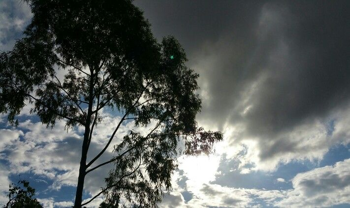 The Sun behind the clouds