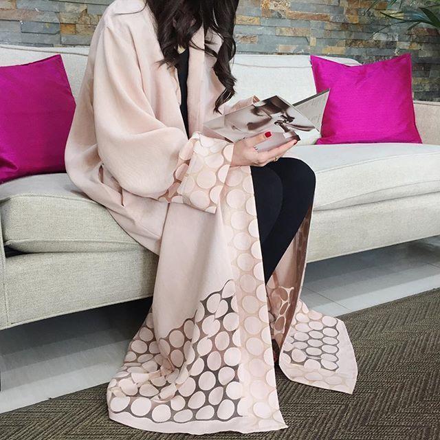 Pinterest: @eighthhorcruxx. Stunning blush Abaya!!!!!