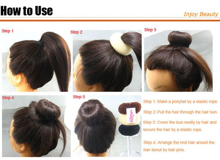 It suggests you leave the ring at the base of your ponytail and then arrange hair around the ring with hair pins, but then what of the hair left? I tried pinning it around the base of the bun but it just ruined it.