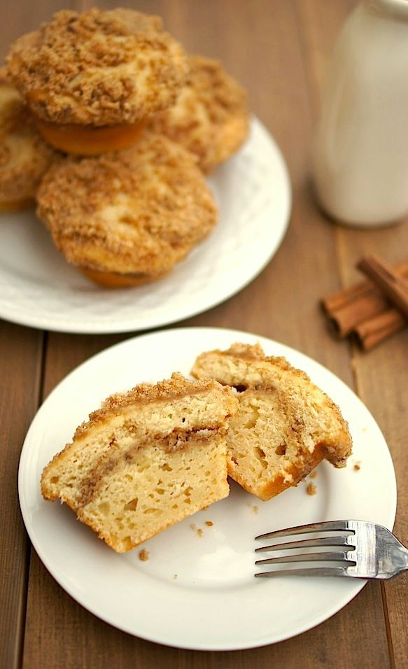 Coffee Cake Muffins - everything you love about coffee cake, these are just easier to share...or not - your call