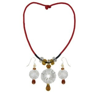 India Jewelry For Women Handcrafted Crystal Pendant and Earrings Set (Jewelry)  http://documentaries.me.uk/other.php?p=B007UXF4MY  B007UXF4MY
