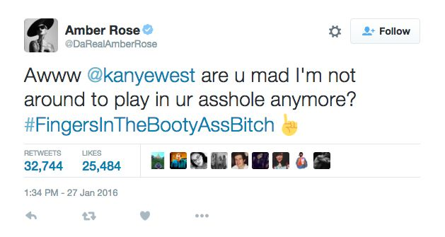 Amber Rose Just Went All In, Literally, With Her Tweet To Kanye