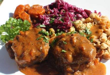 Beef Schaschlik..(German Style Swiss Steak) This recipe from the 1700's in a German Cooking book