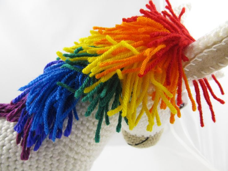 Rainbow Donkey / Unicorn Crochet Pattern by Squirrel Picnic
