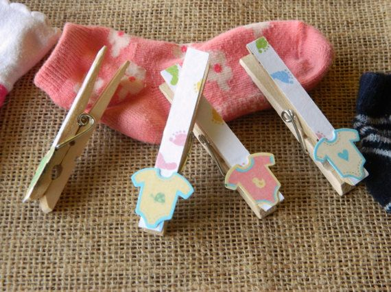 Baby Shower Clothespins By Sincerelymoi On Etsy, $0.75