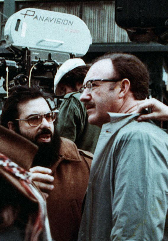 Francis Ford Coppola & Gene Hackman on the set of The Conversation