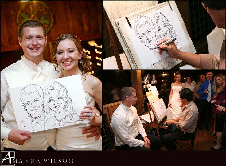 Hiring a caricature artist for a few hours...fun for the guests who don't want to dance + instant wedding favor