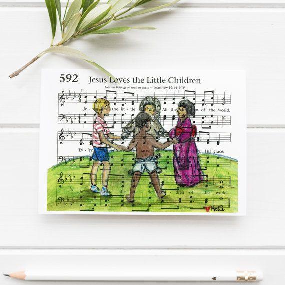 Jesus loves the little children  Hymn painting  Hymn by NearToHymn