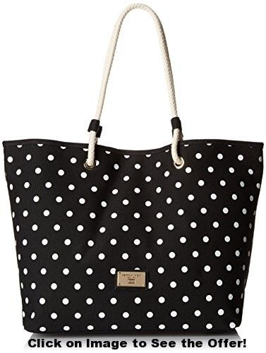 Tommy Hilfiger Phoebe Travel Tote, Black/White, One Size