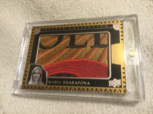 2015-16 MARIA SHARAPOVA UD MASTER COLLECTION ALL TIME GREATS LOGO PATCH 125/125