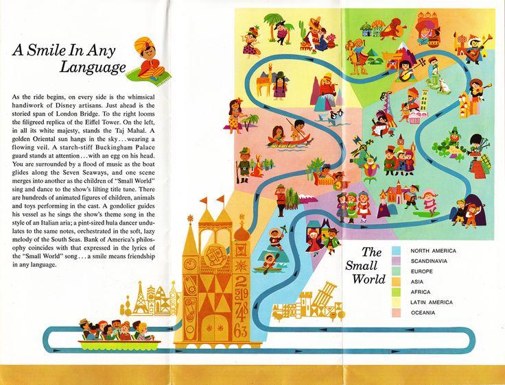 Best Illustration Maps Landmarks Infographics Images On - Disneyland brazil map