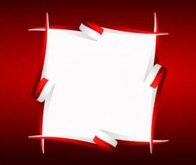 Kolorowe taśmy papierowe ramki wektora 03