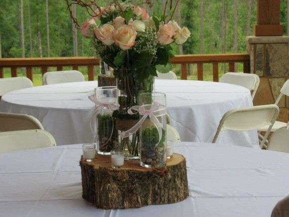 Woodland forest themed baby shower for a girl simple