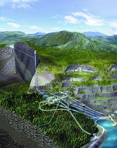 Dinorwig, Snowdonia, UK: energy storage as potential energy using water